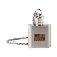 Vintage Christmas Santa Claus Flask Necklace