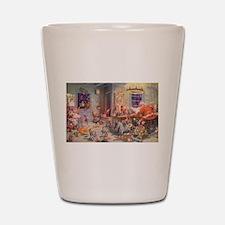 Vintage Christmas Santa Claus Shot Glass