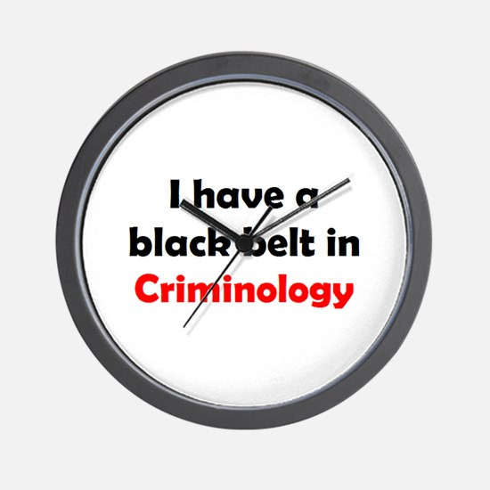 criminology black belt Wall Clock
