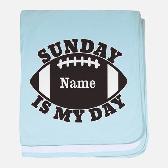 Personalized Sunday is My Day baby blanket