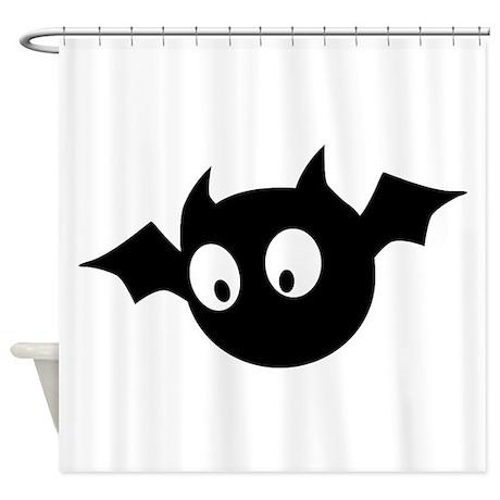 Cute Bat Shower Curtain by opheliasart  Cute White Bats