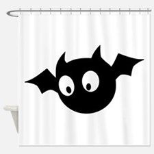 Cute Bat Shower Curtain