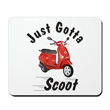 Just Gotta Scoot Vespa ET Red Mousepad