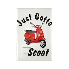 Just Gotta Scoot Vespa ET Red Rectangle Magnet (10