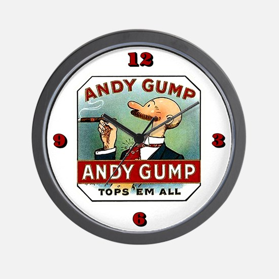 Andy Gump reproduction cigar lable Wall Clock