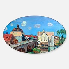 Bridge Moret, painting by Alfred Si Decal