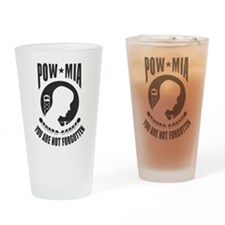 POW MIA You are Not Forgotten Drinking Glass