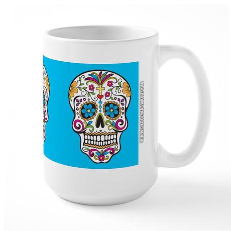 SugarSkull Halloween Blue Mugs