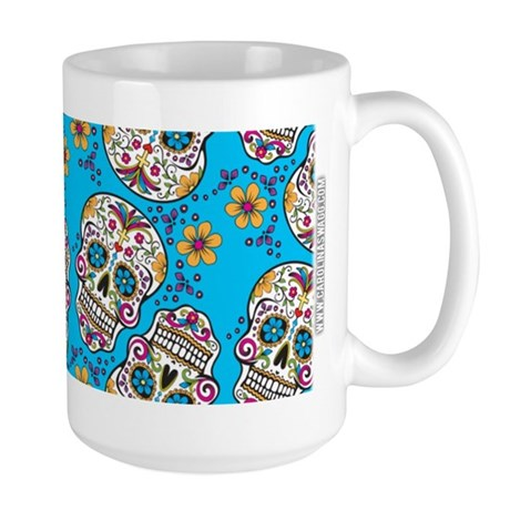 Day of The Dead Sugar Skull, Halloween Mugs