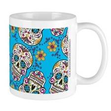 Day of The Dead Sugar Skull, Halloween Coffee Mugs
