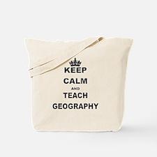 KEEP CALM AND TEACH GEOGRAPHY Tote Bag