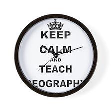 KEEP CALM AND TEACH GEOGRAPHY Wall Clock