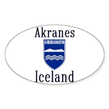 The Akranes Store Oval Sticker