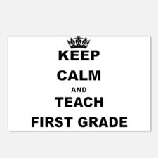 KEEP CALM AND TEACH FIRST GRADE Postcards (Package