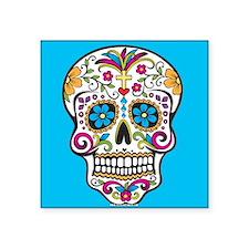 Sugar Skull Halloween Blue Sticker