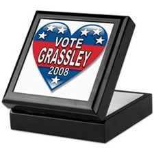 Vote Charles Grassley 2008 Political Keepsake Box
