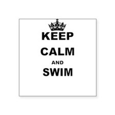 KEEP CALM AND SWIM Sticker