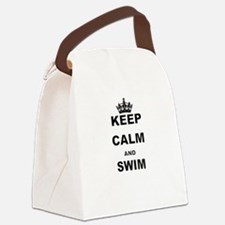 KEEP CALM AND SWIM Canvas Lunch Bag