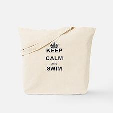 KEEP CALM AND SWIM Tote Bag