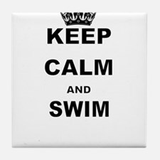 KEEP CALM AND SWIM Tile Coaster