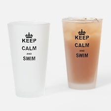 KEEP CALM AND SWIM Drinking Glass