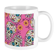 Sugar Skull Halloween Pink Mugs