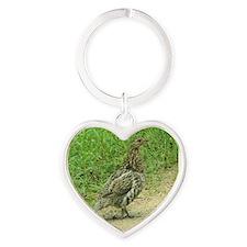 Ruffed Grouse Heart Keychain