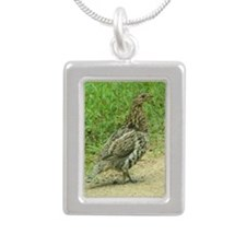 Ruffed Grouse Silver Portrait Necklace