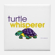 turtle whisperer Tile Coaster