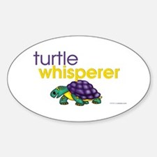 turtle whisperer Oval Decal