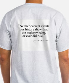Jeff Davis Quote Ash Grey T-Shirt