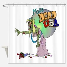Zombie Beauty Queen Shower Curtain
