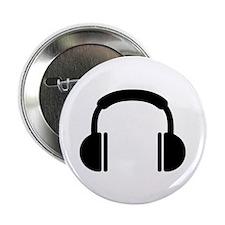"""Headphones music DJ 2.25"""" Button (10 pack)"""