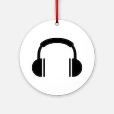 Headphones music DJ Ornament (Round)