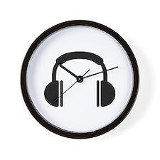 Headphones music DJ Wall Clock