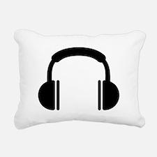 Headphones music DJ Rectangular Canvas Pillow