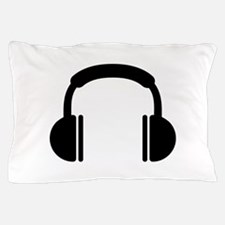Headphones music DJ Pillow Case