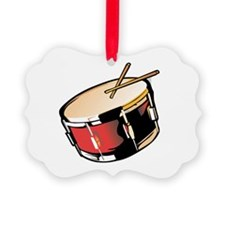 realistic snare drum red Ornament