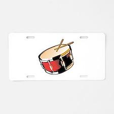 realistic snare drum red Aluminum License Plate