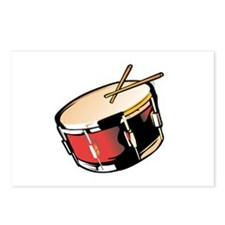 realistic snare drum red Postcards (Package of 8)