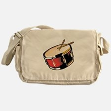 realistic snare drum red Messenger Bag