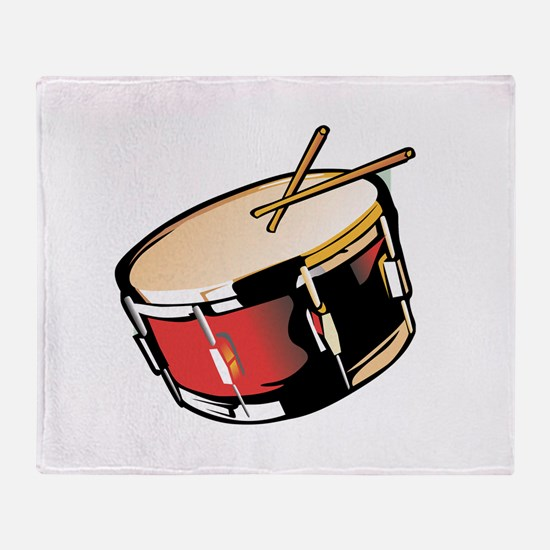 realistic snare drum red Throw Blanket