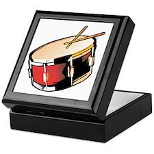 realistic snare drum red Keepsake Box
