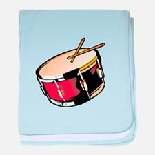 realistic snare drum red baby blanket