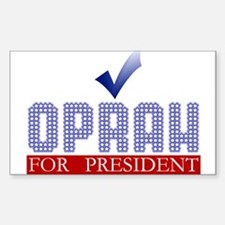 Oprah for Prez Rectangle Decal