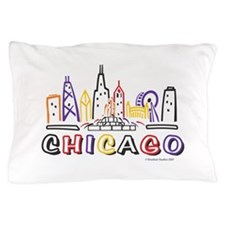 Cute Chicago Skyline Pillow Case