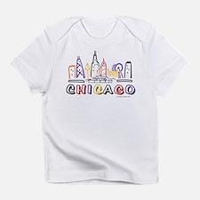 Cute Chicago Skyline Infant T-Shirt