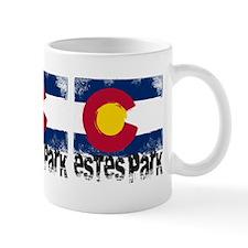 Estes Park Grunge Flag Small Mug