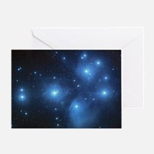 The Pleiades Star Cluster Greeting Card