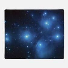 The Pleiades Star Cluster Throw Blanket